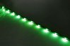 LED Lights Strip W/adhesive backing - Green 6 leds w/silicon