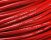 12-AWG - Cable de silicona - 680 * 0,08 - Rojo       - 3 mm.