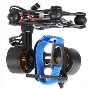 Two-axis Brushless Gimbal Camera Mount w/ Motor & Controller for Gopro Hero 1/2/3