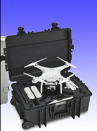 profesional case for DJI PHANTOM 3 Drone black witout wheel