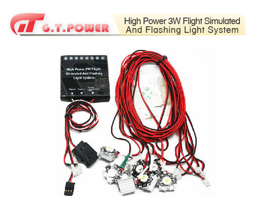KIT DE LUCES DE NAVEGACION High power 3W Flight Simulated And Flashing Light  System