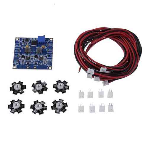 RC LED Flashing Light/Night Light with LED Board and LED Extension Wire for Quadcopter (6pcs)