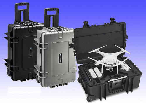 profesional case with wheel for DJI PHANTOM 3 gray