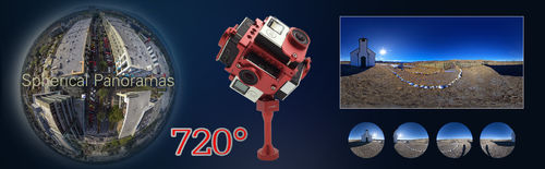Frame for Spherical Panorama  720° w/ Protective Case Mount for Gopro Hero 3+/4 - For 6 GoPro