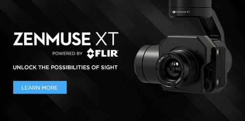 DJI Zenmuse XT 30 Hz  336 × 256 Lens Models 13 mm Point Temperature + XT Gimbal Adapter