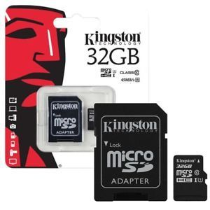 Tarjeta de memoria Kingston microSDHC 80MB/s 32GB