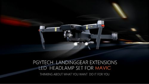 Mavic - PGYTECH Extended Landing Gear & LED Headlamp set For Mavic Pro