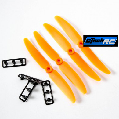 Gemfan 6030+ 6030R 4 prop Propeller (ABS) CW&CCW (orange)